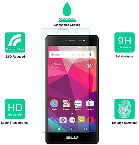 2-Pack-BLU-Life-One-X-4G-LTE-2016-Screen-Protector-Dmax-Armor-Tempered-Glass-9H-Hardness-Anti-Scratch-Anti-Fingerprint-Bubble-Free-Ultra-clear-Lifetime-Warranty-0-0
