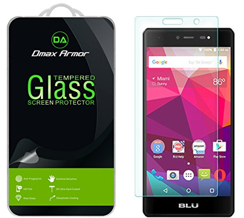 2-Pack-BLU-Life-One-X-4G-LTE-2016-Screen-Protector-Dmax-Armor-Tempered-Glass-9H-Hardness-Anti-Scratch-Anti-Fingerprint-Bubble-Free-Ultra-clear-Lifetime-Warranty-0