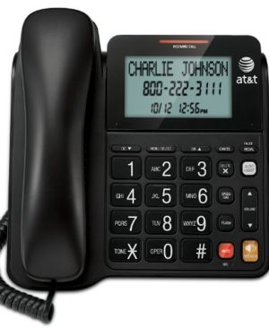ATT-CL2940-Corded-Phone-with-Speakerphone-Extra-Large-Tilt-DisplayButtons-Caller-IDCall-Waiting-and-Audio-Assist-Black-0