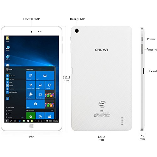 CHUWI-Hi8-8-inch-Windows-10Android-44-Dual-Boot-Tablet-PC-with-Features-of-Intel-Quad-Core-Full-HD-19201200-IPS-Screen-2G-RAM32G-ROM-and-Winkey-0-3