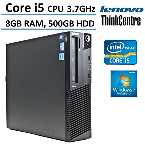 Lenovo-ThinkCentre-M91p-High-Performance-Small-Factor-Desktop-Computer-Intel-i5-6M-Cache-37GHz-8GB-Ram-500GB-HDD-DVD-Burner-Windows-7-Professional-Certified-Refurbished-0