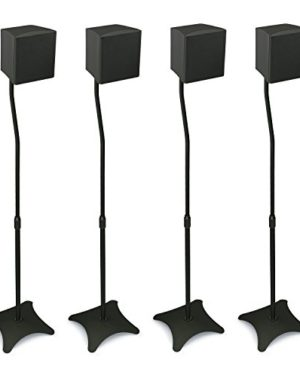 Mount-It-MI-1214-Speaker-Stands-for-Home-Theater-51-Channel-Surround-Sound-System-Satellite-Speaker-Stands-Mounts-Rear-and-Front-2-Pairs-10-lb-Capacity-Black-0