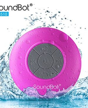 SoundBot-SB510-HD-Water-Resistant-Bluetooth-Wireless-Shower-Speaker-Hands-Free-Portable-Speakerphone-w-6Hrs-of-Playtime-Built-in-Mic-Control-Buttons-Detachable-Suction-Cup-for-Indoor-Outdoor-0